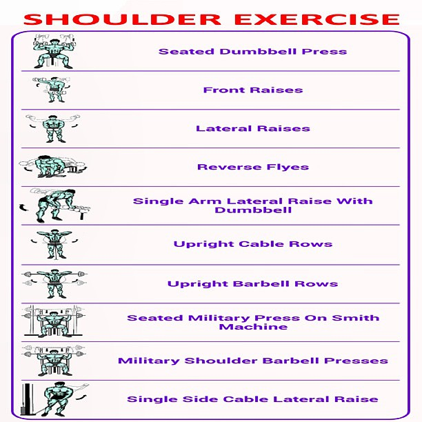 List of Weighted Shoulder Exercises