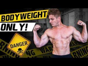Bodyweight Only Danger & A Man Flexing His Muscles