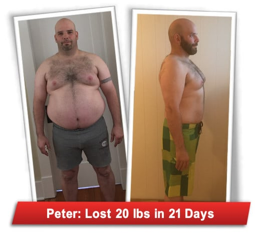 Peter's Weight Loss Using The 21-Day Flat Belly Fix