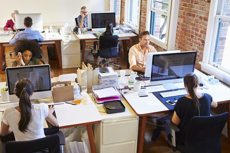 People Sitting at Their Desks in the Office