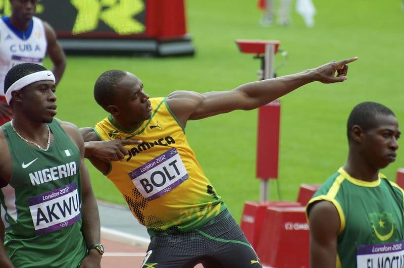 Usain Bolt Doing 'The Bolt'
