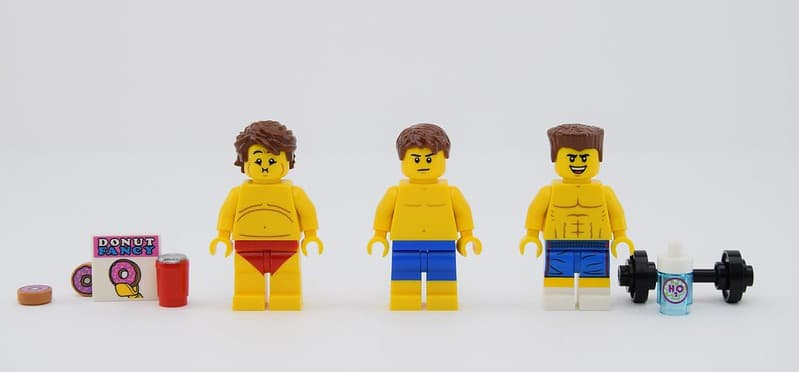 3 Lego Men Transforming From Fat to Fit