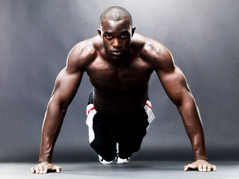 A Man About to Perform a Push Up