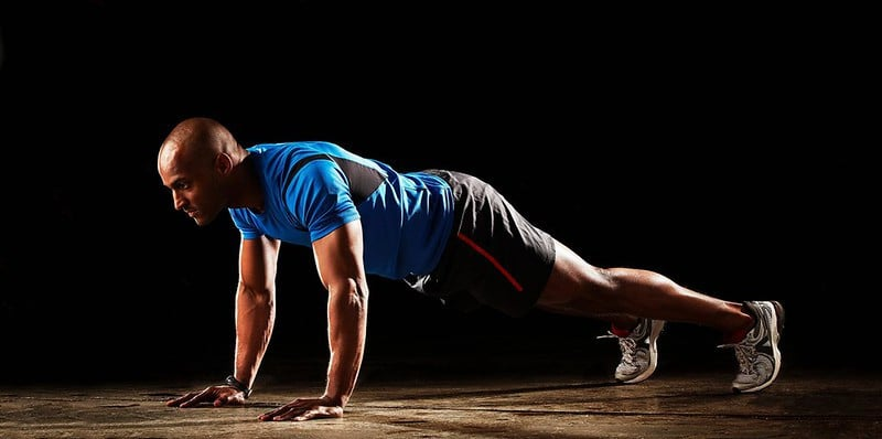 A Man Performing a Push Up