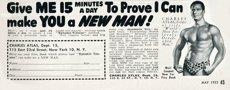 Charles Atlas Advert For Exercise