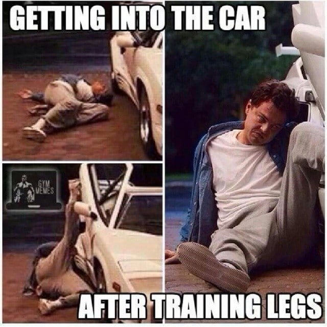 Getting Into The Car After Training Legs