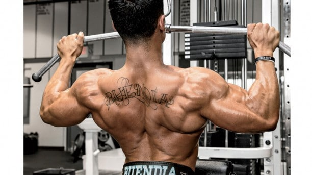 A Man Doing Lat Pulldowns