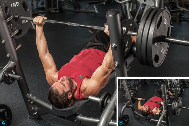 A Man Doing The Bench Press