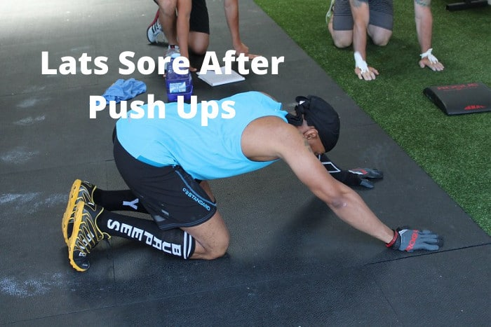 Lats Sore After Push Ups