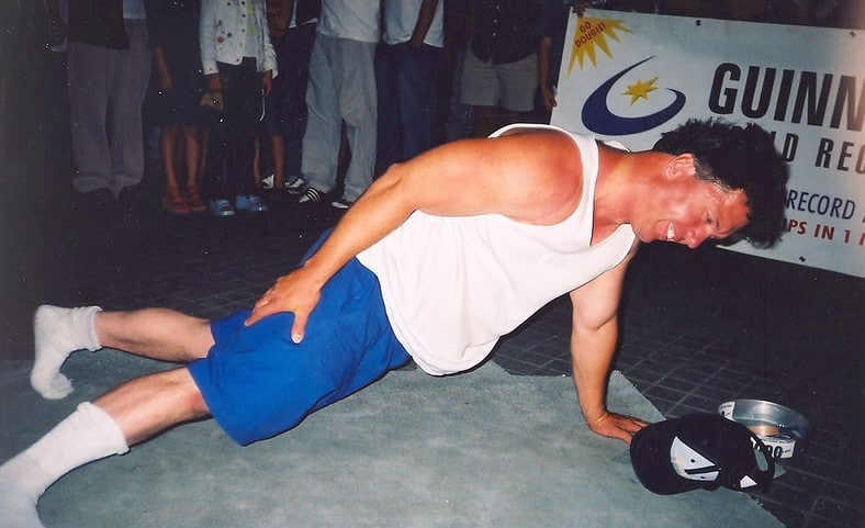 Doug Pruden - Most One-Arm Push Ups in a Minute World Record