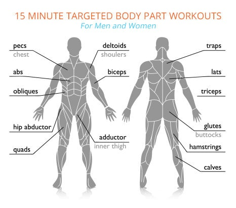 15-Minute Targeted Body Part Workouts
