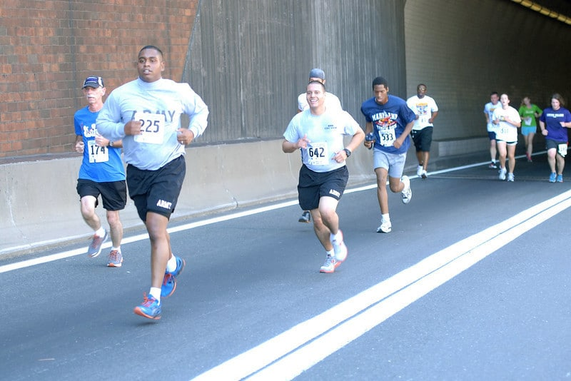 A Group of People Taking Part in a Race