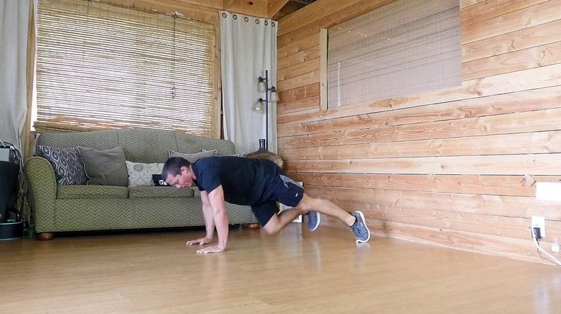 A Man Doing Mountain Climbers Exercise