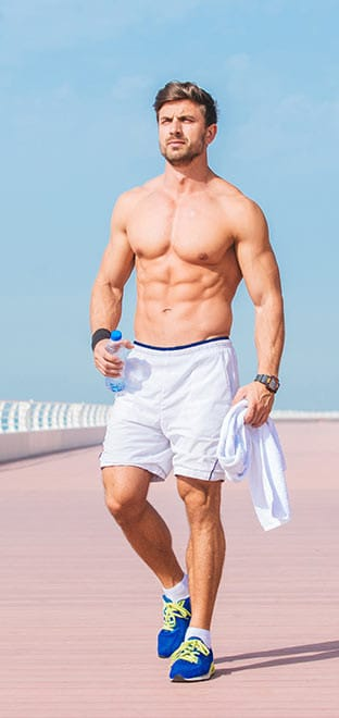 A Man With an Athletic Physique After Using Fat Loss Activation