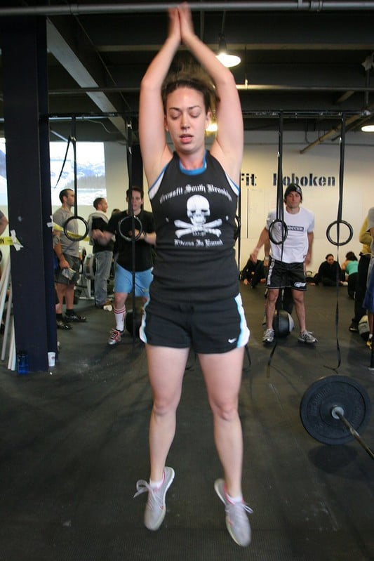 A Woman Doing Burpees