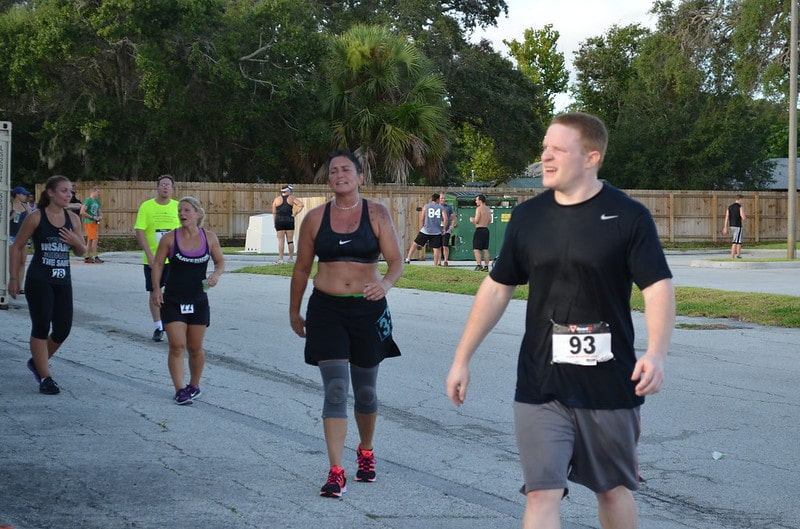 Crossfit Competitors at an Outdoor Meet
