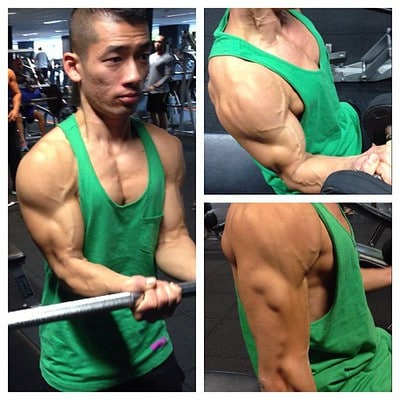 A Man Doing Bicep Exercises