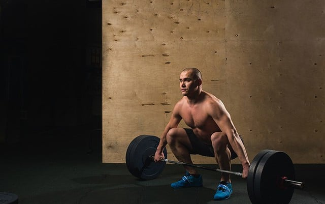 A Man Performing a Deadlift With His Hips Too Low