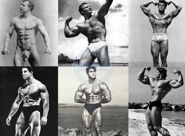 Men From the Golden Era of Bodybuilders