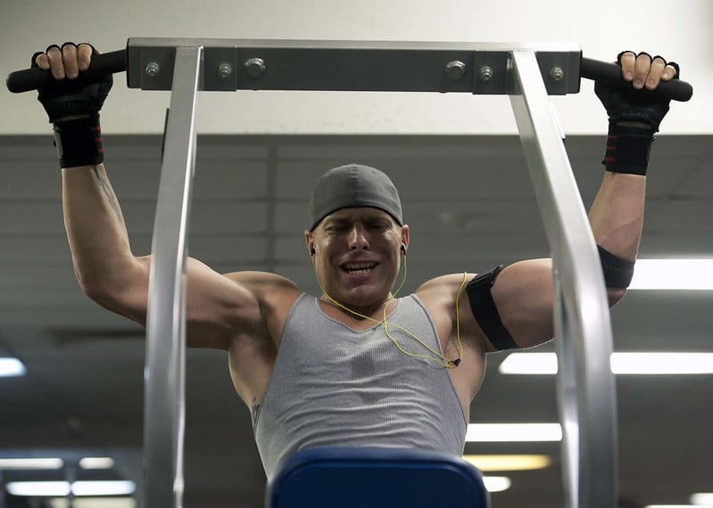 A Man Struggling to Do Pull Ups
