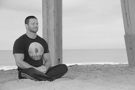 Chris Willitts Meditating On a Beach