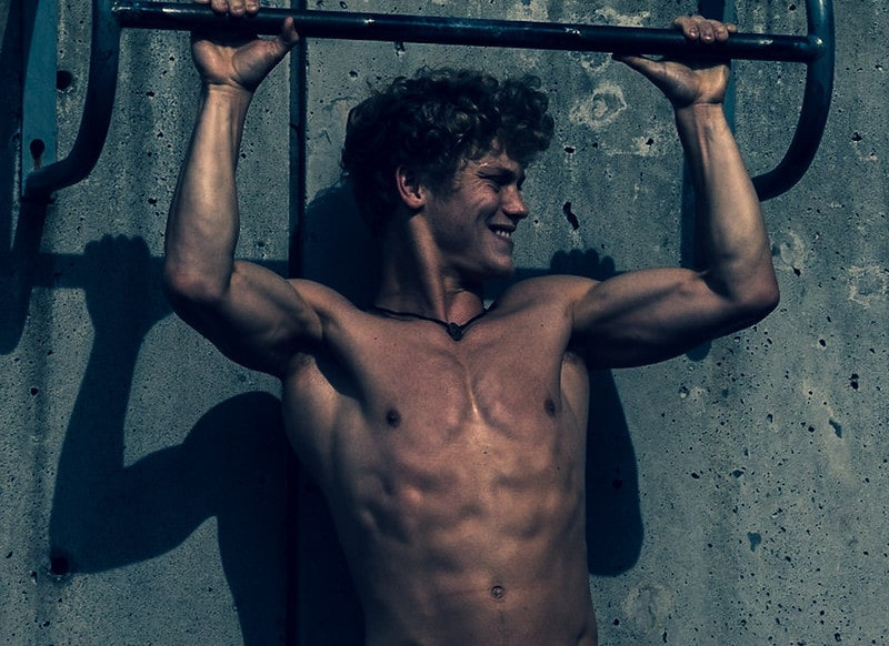 An Athletic Man Doing Pull Ups
