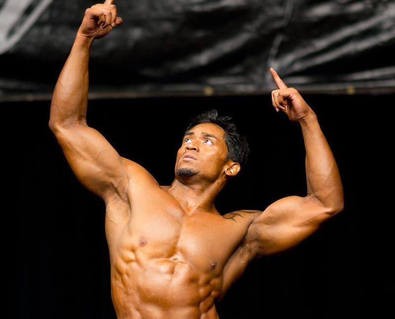 A Bodybuilder Striking a Pose